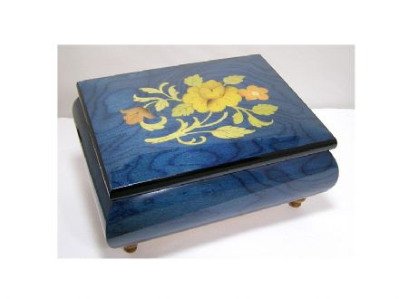 Inlaid Musical Jewellery Box MAD415FLBLL
